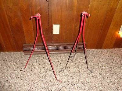 "Set of 2 Vintage 24"" Tall Lightning Rod Weather Vane Stands"