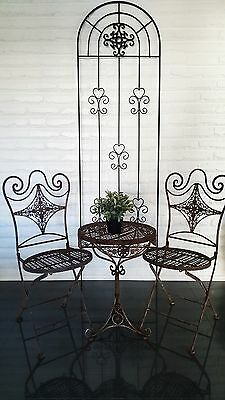 Garden Arch Black Metal French Provincial Rustic  Courtyard Outdoor