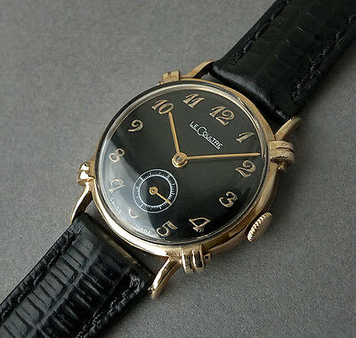 JAEGER LECOULTRE 14K Solid Gold Vintage Watch 1948   KNOTTED LUGS