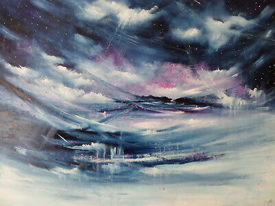 """Original  Abstract Oil  Painting On  Stretched  Canvas  30 X 40"""""""