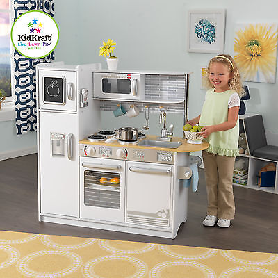 KidKraft Uptown White Wooden Kitchen Kids Play Kitchen 53364