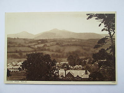 Old Postcard - Brecon From Penlan , Powys , Wales .