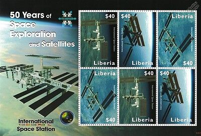 International Space Station (ISS) 50 Years of Space Exploration Stamp Sheet/2008