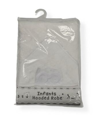 personalised PINK  Beautiful Embroidered OWL  Baby Hooded Towel - Bath Robe