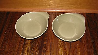 Russell Wright Lot of 2 Oneida Lug Bowl gray green NO Chips Cracks  EXCELLENT