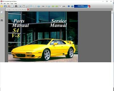 Lotus Esprit S4 S4S V8 1993 - 2004 Factory Service Repair Workshop Fsm Manual