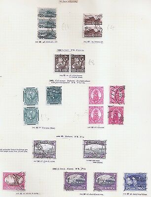 South Africa 1942-1945 including pairs/units War Effort, cat £30+ w8106