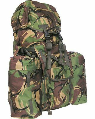 DPM Camouflage 100 litre Army / Forces Style RUCKSACK / bergen with side Pouches