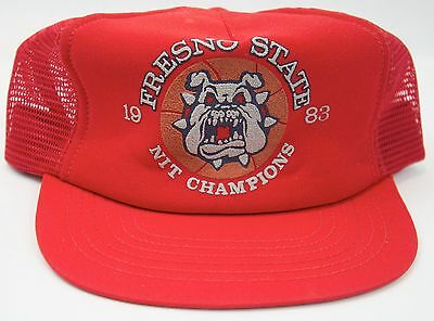 Fresno State 1983 NIT Champions Adjustable SnapBack Red Trucker Hat