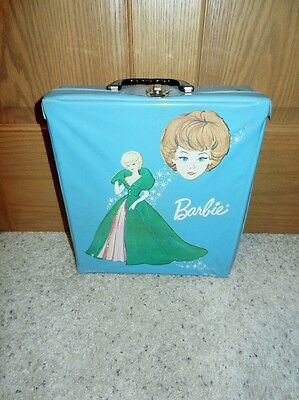 1963 Vintage Barbie Single Doll Case Blue Sophisticated Lady Graphic