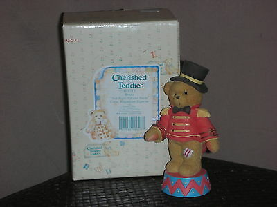 """Cherished Teddies 'bruno' """"step Up Right And Smile"""" - New -"""