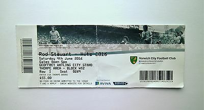 ROD STEWART MEMORABILIA -Ticket Stub(s) Carrow Road - Norwich City FC 04/06/16