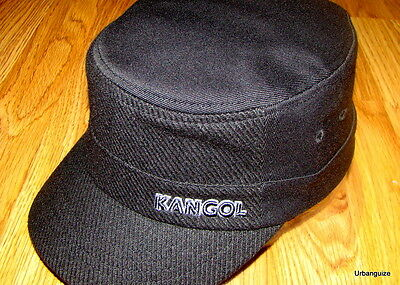 d0a9c9aa1 BLACK KANGOL Textured Wool Flexfit Army Cap