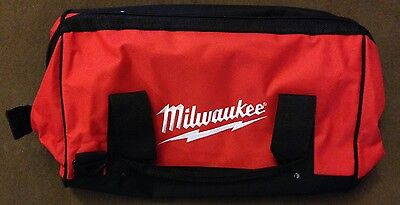 """New Milwaukee M12 M18 16"""" x 10"""" x 12"""" Contractors Tool Bag with 6 Inside Pockets"""