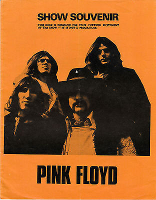 Pink Floyd At Earl's Court 1973 'show Souvenir' 'dark Side Of The Moon ' Tour
