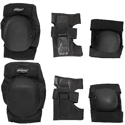Physionics Skate Pads Black Wrist Knee Elbow Safety Protection Equipment Size S