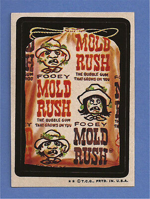 1974 Topps Wacky Packages Series 6 MOLD RUSH Gum