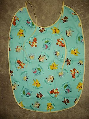 Dependeco large adult baby bib (many prints to choose from) pokemon/paw patrol