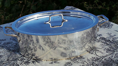 Wiskemann of Belgium Casserole Dutch Oven Solid Heavy Silver Plated Full Marked