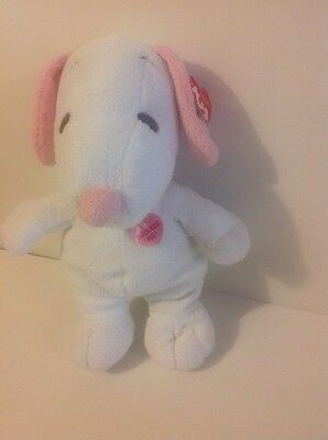 Ty Pluffies Pink & White Snoopy Musical Plush Soft Toy