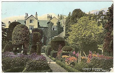 Postcard Levens Gardens & Hall Kendal Westmorland Cumbria 1906