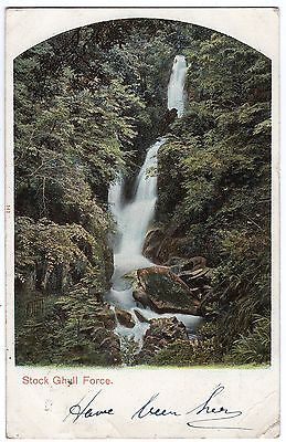Postcard Stock Ghyll Force Ambleside Lake District Cumbria 1907