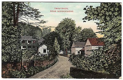 Postcard Village of Troutbeck Nr. Windermere Lake District Cumbria