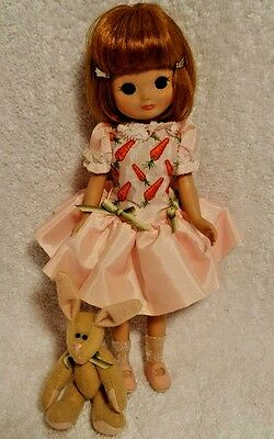 """Tonner Tiny Betsy McCall 8"""" Doll Carrot Top w/  Jointed Easter Bunny Rabbit 2003"""