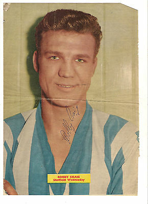 Bobby Craig (Sheffield Wednesday) -  signed photo sent to me personally