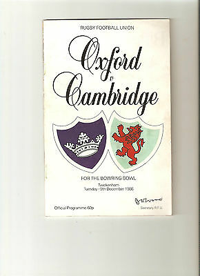 1986  Rugby Union---Oxford v Cambridge at Twickenham