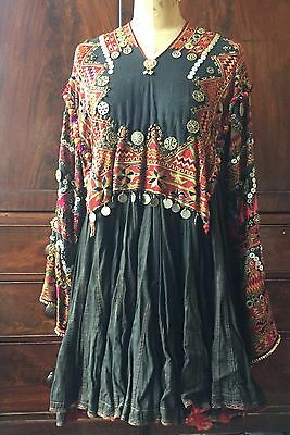 Antique Afghan Nuristan dress jumlo embroidered wedding swat nomadic early 20thC