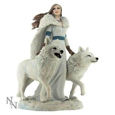 Gorgeous Winter Guardians Figurine/ornament By Anne Stokes - Wolves