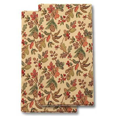 Longaberger Fabric NAPKINS Set of 2 -  Autumn Path -  New & On Hand