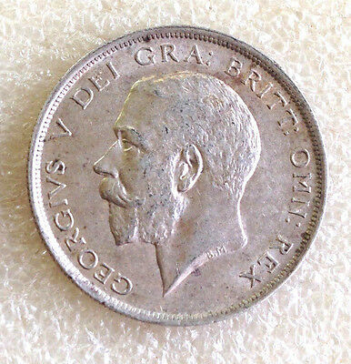 GEORGE V 1918 Silver First Coinage Half Crown .925 Sterling Silver