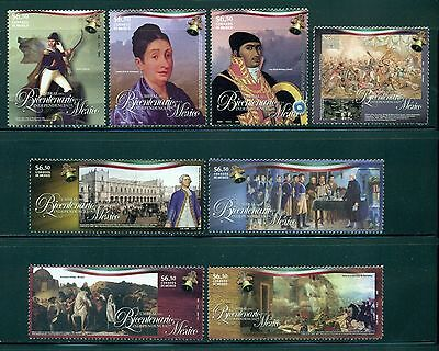 Mexico Scott #2582-2589 MNH Bicentennial of Mexican Independence $$
