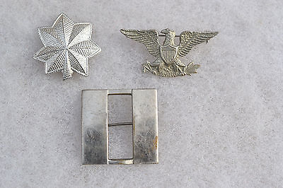 Us Uniform Hat Insignia Badge Pin Officer's Rank Pins U.s. Military Wwi Wwii #1