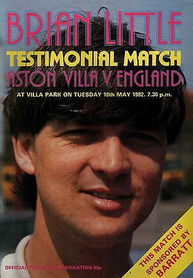 1981/82 Aston Villa v England, Brian Little Testimonial, PERFECT CONDITION