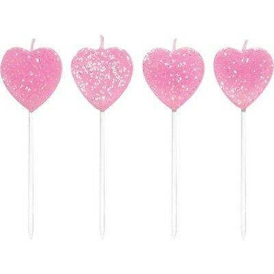 Heart Shaped Pick Candles (10 pack)
