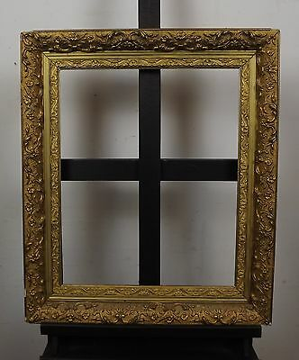 ANTIQUE C19th WOOD & GESSO GILT FRAME ROCOCO STYLE