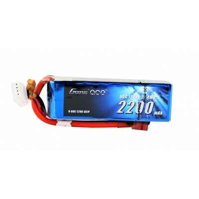 Gens Ace 3S 2200mAh 11.1V 60C 3S1P Lipo Battery with Deans Plug End