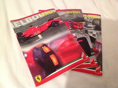 3 Genuine Ferrari Lined Paper a4 Size Books From 2001