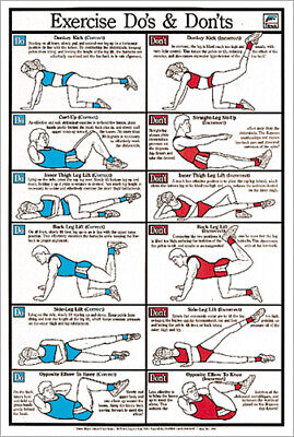 EXERCISE DO'S AND DON'TS Professional Fitness Club Wall Chart Gym POSTER