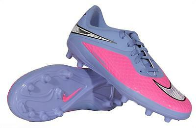 new styles 3c2d8 7820f NIKE HYPERVENOM PHELON FG Youth Soccer Cleats Pink Chrome 599062-641