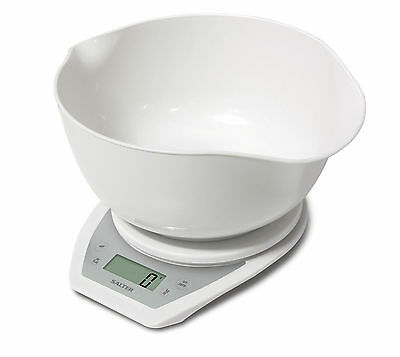 SALTER Electronic KITCHEN Digital SCALE with DUAL Pour MIXING Bowl 5Kg 1024 *NEW