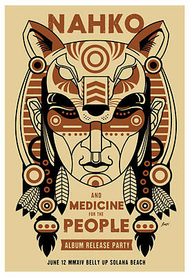 Nahko and Medicine for the People at The Belly Up  Poster by Scrojo Nahko_1606
