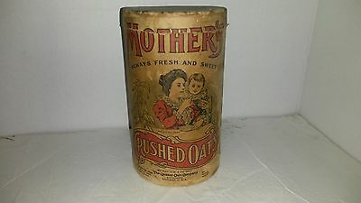 antique mothers crushed oats box