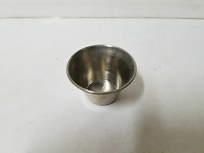 Lot of 4 Stainless Steel Rolled Edge 3 OZ Condiment Cups by Vollrath #46713