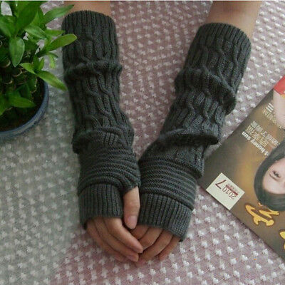 New Knitted Gloves Ankle Long Arm Glove Wool Fingerless Glove Half Sleeves AUSE