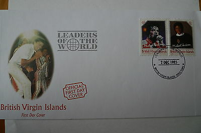 Virgin Islands 1985 Michael Jackson Stamps 55 C. Not Issued Very Few Fdc Exist
