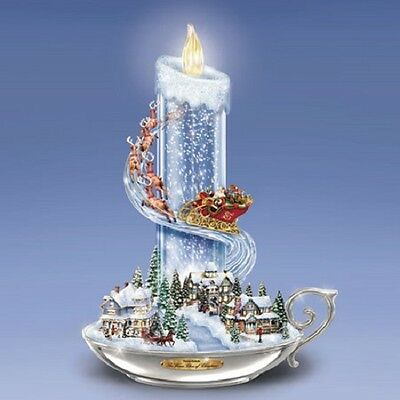 Warm Glow of Christmas Candle Stick Thomas Kinkade Figurine Bradford Exchange